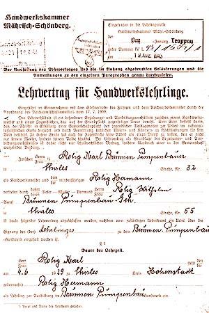 1943_Lehrvertrag